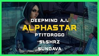 3 Players vs Alpha Star (feat. PtitDrogo) Deepmind A.I.  Starcraft 2