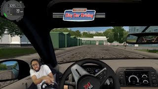 These potholes are RIDICULOUS lmaooo - City Car Driving screenshot 3