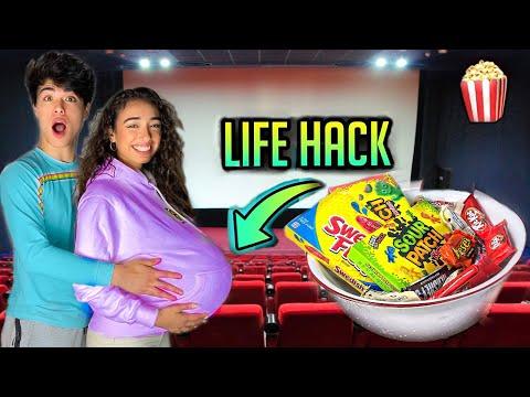 5 Ways To Sneak Snacks Into The Movies! (LIFE HACKS)