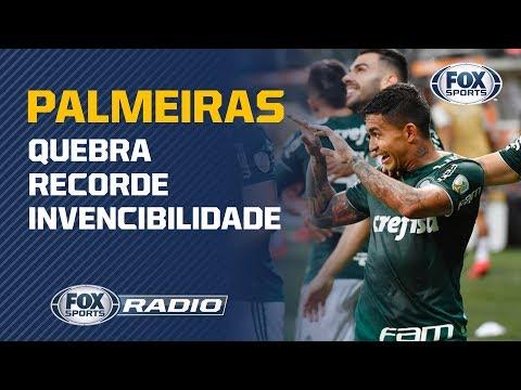 Palmeiras assume a liderança do Campeonato Brasileiro e quebra recorde invencibilidade