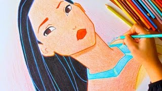 Drawing: POCAHONTAS | Disney | BUDGET ART
