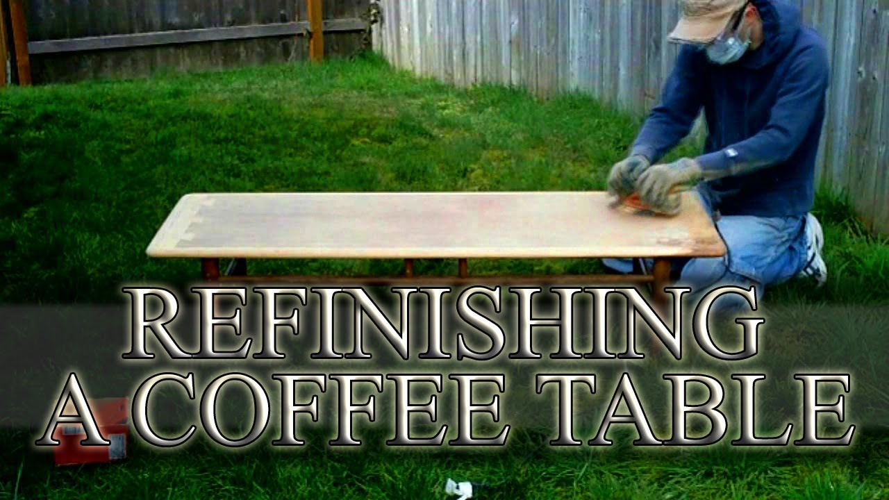 how to refinish a coffee table - time lapse - youtube