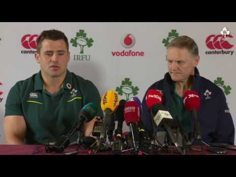 Irish Rugby TV: Ireland v England Team Announcement Press Conference