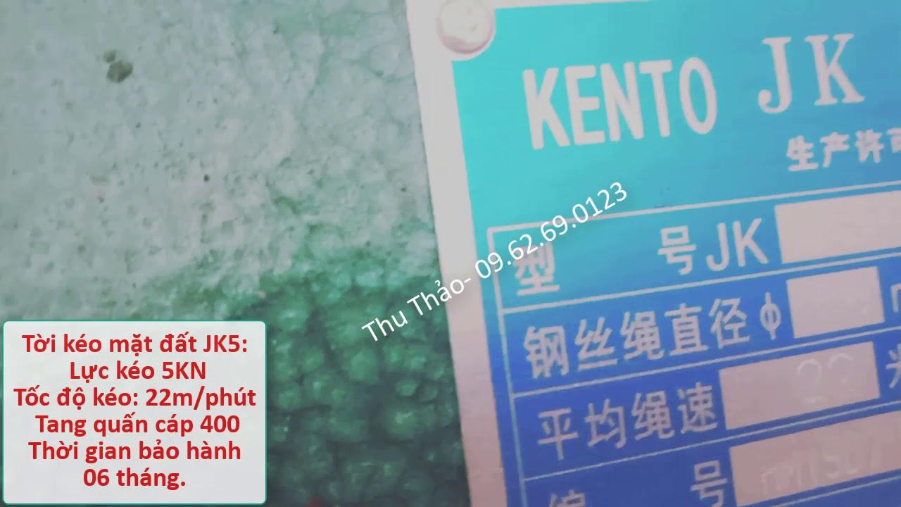 Tời mặt đất JK5 giá rẻ. Gia re toi mat dat jk5. Gọi 09.62.69.0123 để tư vấn