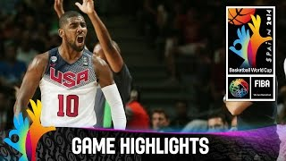 USA v Serbia - Game Highlights - Final - 2014 FIBA Basketball World Cup