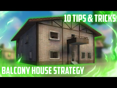 10 BALCONY HOUSE SECRET STRATEGY | TIPS AND TRICKS IN FREE FIRE