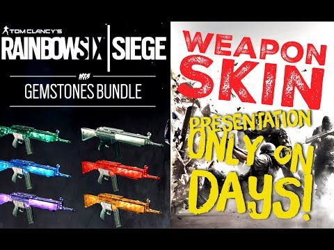 Gemstones Bundle Weapon Skins - unboxing & presentation - Edelsteine Paket Skin - Rainbow six Siege