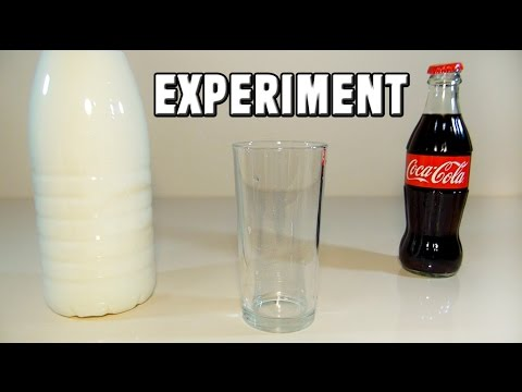 Coca Cola Milk Experiment