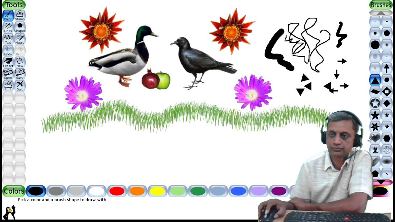 Tux Paint Free Drawing Software For Children Youtube