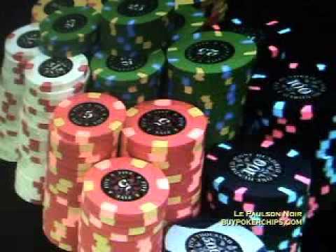 Le Paulson Noir Poker Chips Version 2 - YouTube