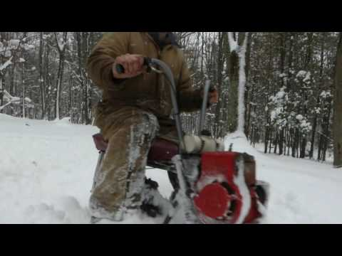 Snow Romp with the Track Bike and 2 engine Minibike