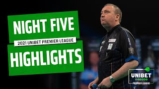 A NEW LEADER! Night Five Highlights | 2021 Unibet Premier League