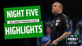 A NEW LEADER! Night Five Highlights | 2021 Unibet Premier League