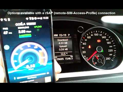 VW 9ZZ rSAP Bluetooth connection with Samsung Galaxy S5 Duos / WiFi  3C8035730D