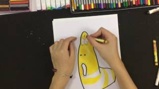 How to draw larva step by step- draw for kid