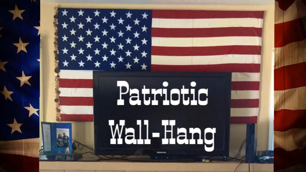 Hang Flag On Wall american flag wall hang - youtube