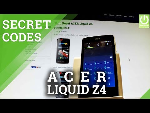 Codes ACER Liquid Z220 - HardReset info