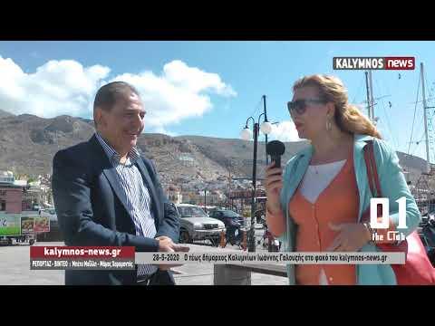 28-5-2020 Ο τέως δήμαρχος Καλυμνίων Ιωάννης Γαλουζής στο φακό του kalymnos-news.gr