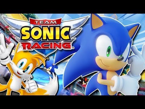 Sonic and Tails Play Team Sonic Racing - SONIC TAILS AND EGGMAN!!? |