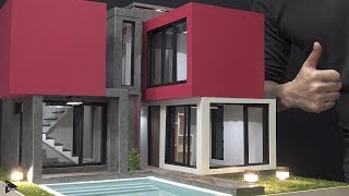 how To Make a mini house(model) #5 - Swimming Pool - Modern house