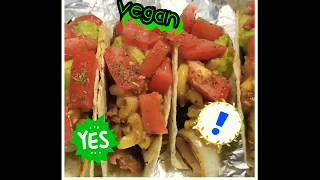 Vegan mac and cheese taco Mukbang : inspired by the queen Bloveslife! 🖤