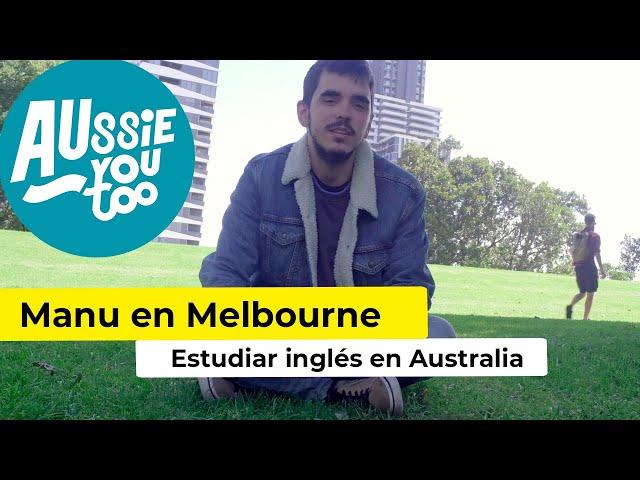 Manuel Granda, periodista mejorando su inglés en Melbourne