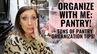 Organize with me: PANTRY! Inventorying, zones, food hacks, & pantry organization tips!