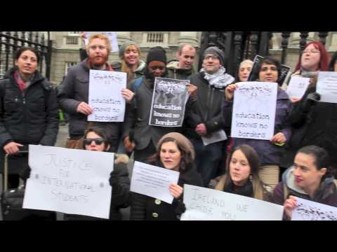 International students & workers protest inhumane Irish visa system