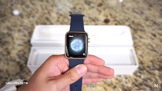 Apple Watch Sport Unboxing (42mm Gold/Midnight Blue) New 2015