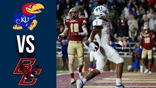 Week 3 College Football Kansas vs Boston College Full Game Highlights