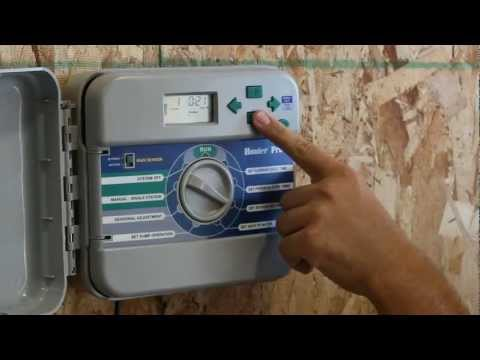 How to adjust the watering schedule on the Hunter Pro C Sprinkler controller