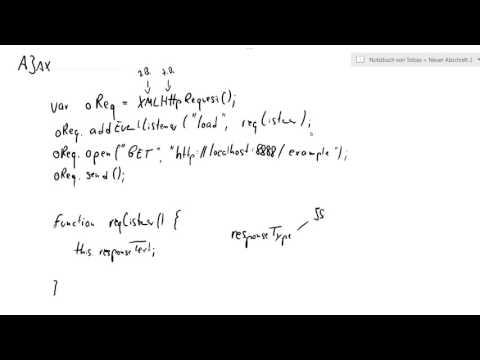 Web-Technologien, AJAX #1: XMLHttpRequest
