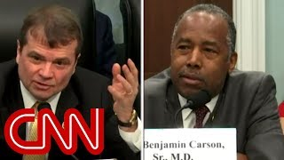During a House Appropriations Committee hearing, Rep. Mike Quigley (D-IL) and Secretary Ben Carson went toe-to-toe over the removal of LGBT ...