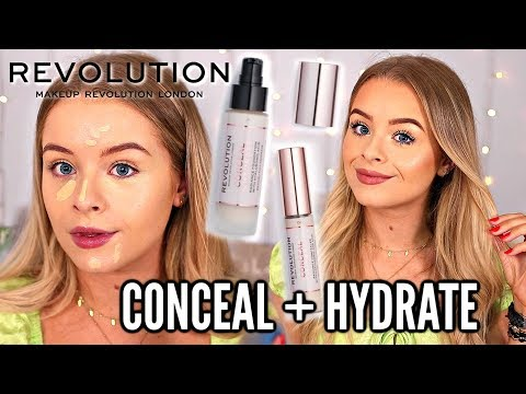 TESTING NEW REVOLUTION CONCEAL + HYDRATE FOUNDATION & CONCEALER (Wear test) thumbnail