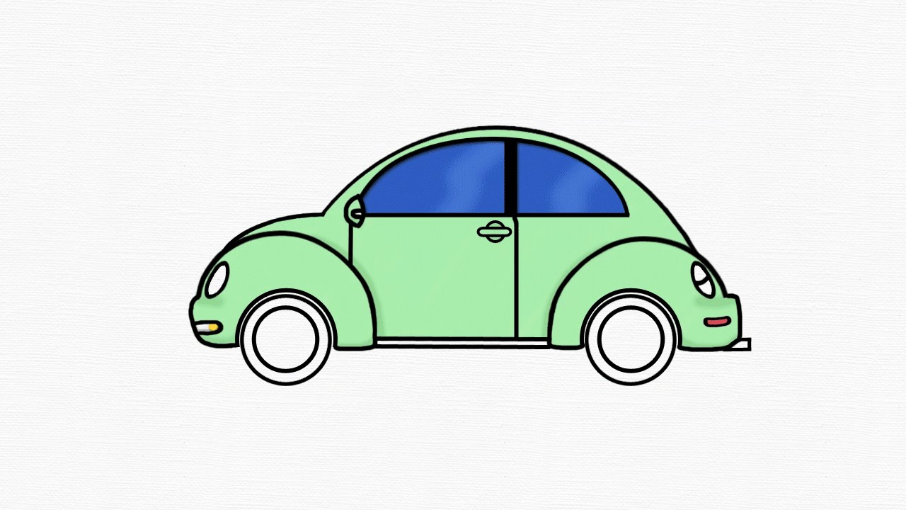 how to draw volkswagen beetle 1 draw vw step by step easy