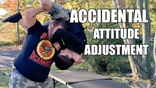 ATTITUDE ADJUSTMENT THROUGH A TABLE Backyard Wrestling Grim AA