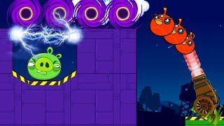Angry Birds Cannon Hacked 4 - FORCE PIGGIES TO ELECTRIC SHOCKER TO RESCUE TEAM!!