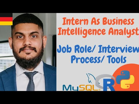 Job Role As A Business Intelligence Analyst Intern In Germany || Interview Experience And Tools