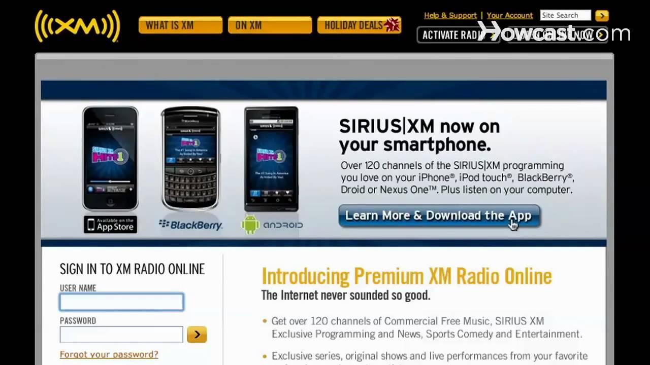 sirius radio activation promo code