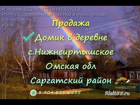 Домик в деревне Нижнеиртышское, Омская обл, Продажа дома