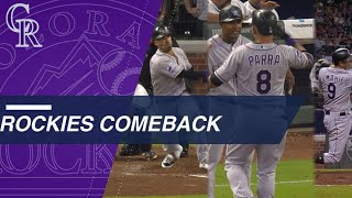 Rockies stun Braves with 3 in 9th, win in 10