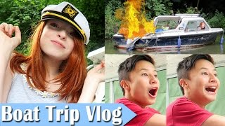Boat Trip From Hell Vlog, Fun, Fire and Crashing the Boat! | NiliPOD