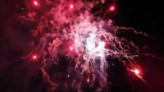 Abschluß Feuerwerk der Eröffnungsfeier der VR-Bank Südpfalz-Arena