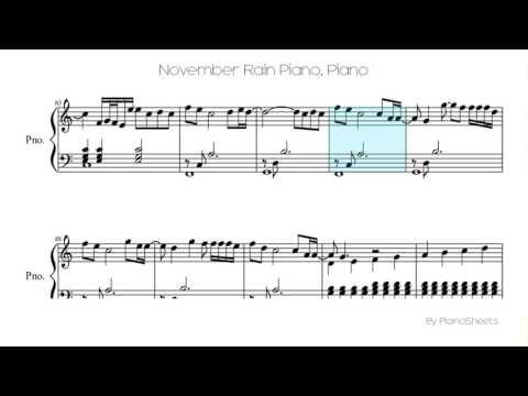November Rain Piano [Piano Solo]