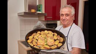 Очень Лёгкий рецепт Лосось со Спаржей и Картошкой в Духовке