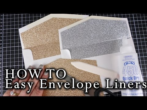 How to make an easy envelope liner for ANY envelope size at home | DIY invitations