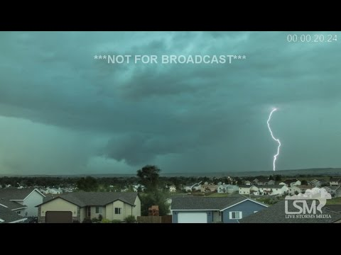 6-13-16 Rapid City, SD Tornado Warning Time Lapse
