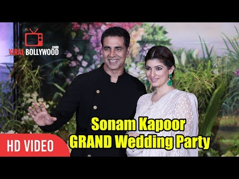 Akshay Kumar & Wife Twinkle Khanna At Sonam Kapoor GRAND Wedding Party | Sonam- Anand Wedding Party