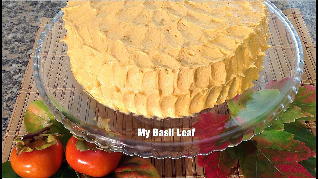 How To Make Persimmon Cake-ButterCream Icing-Baking Food Recipes ...