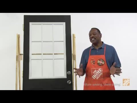 Masonite Door Glass Installation Youtube